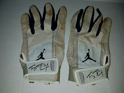 c167b8c83 Tony Thomas Chicago Cubs Rookie Game Used Autograph Batting Gloves Mlb