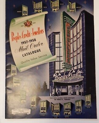 """**Rare (Toronto) """"1957-1958 People's  Credit Jewellers Mail Order Catalogue"""""""