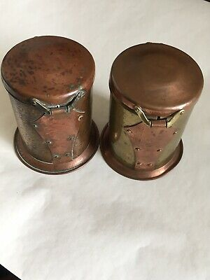 Arts And Crafts Copper And Brass Tea/coffee Caddies
