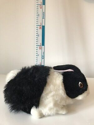 Lop-Eared Rabbit Soft Toy Black  White Realistic Bunny Plush