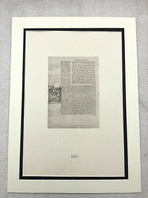 Holbein Antique Print Marginalia Drawing Erasmus In Search of Folly Marriage Bed