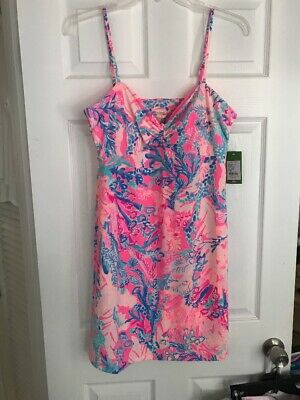 7534539b43486 NWT Lilly Pulitzer Margarete Cover Up Light Pascha Pink Aquadesiac XL Free  Ship