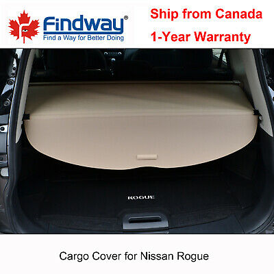 Beige Cargo Cover Anti-Theft Shield For 2014-2020 Nissan Rogue