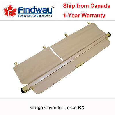 Beige Cargo Cover Anti-Theft Shield For 2010, 2011, 2012 Lexus RX