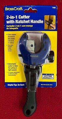Brand New BrassCraft 2-in-1 Cutter with Ratchet Handle T406 Free Shipping!