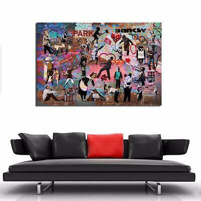 Banksy Graffiti Mash up Amazing Collage 36x24 Street Art Gloss or Canvas ......