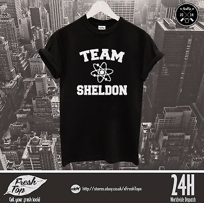 Team Sheldon Cooper T Shirt The Big Bang Theory Bazinga Green Lantern Number 73