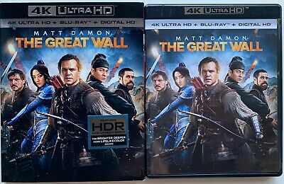 The Great Wall 4K Ultra Hd Blu Ray 2 Disc Set + Slipcover Sleeve Free Shipping