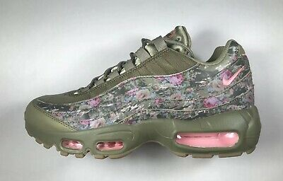 sale retailer b02ee be4eb NIKE AIR MAX 95 Floral Camo Women s Shoes Neutral Olive Arctic Punch  AQ6385-200