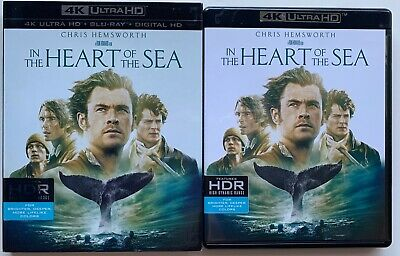 In The Heart Of The Sea 4K Ultra Hd Blu Ray 2 Disc + Rare Oop Slipcover Sleeve