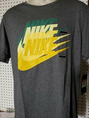 900a4d39 NIKE TEE SIZE Large L BASKETBALL JUST DO IT Gray DRI-FIT T-Shirt New ...