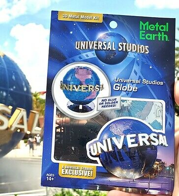 Metal Earth Universal Studios Parks Exclusive 3D Model Kit Universal Globe