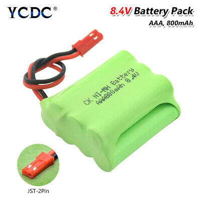 8.4V 800mAh 7*AAA Rechargeable Ni-MH NiMH Battery Pack With JST-2P Connector