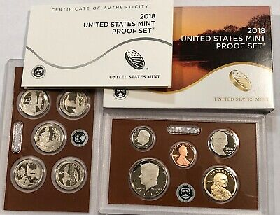 2018 US Mint PROOF SET. Complete 10-coin set with box & coa