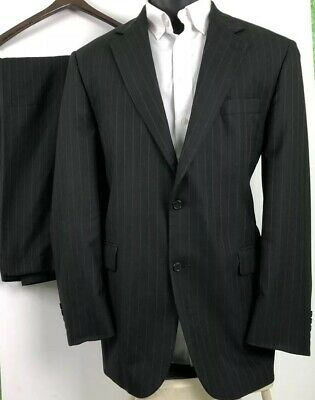 Stafford Mens Pinstripe Super Suit Sz 44Lg 36W