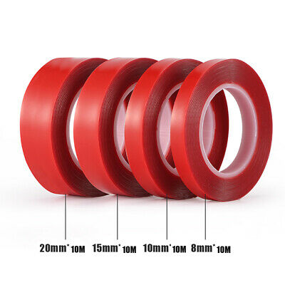 10m x 5 8 10 12 - 60mm AUTO ACRYLIC FOAM DOUBLE SIDED ATTACHMENT ADHESIVE TAPE