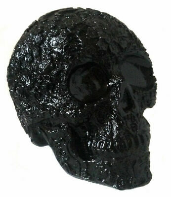 Mexican Day of the Dead Aztec Resin Black Skull | Dia de Muerto Gothic/Goth NEW