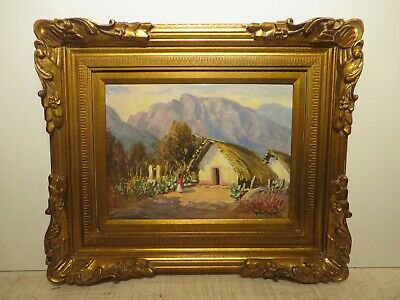"12x16 org. 1950 oil painting by Rolla Taylor of ""Mountain Hut Santiago Mexico"""