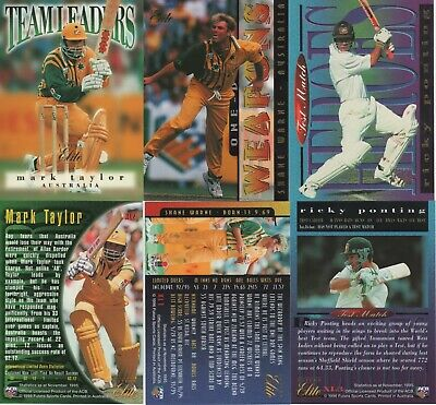 1996 Futera Cricket Elite - Complete Set Of Oversize Box Cards Xl1-3-Warne.....