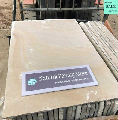 Raj Green Sandstone patio paving slabs flags natural indian stone 600×900