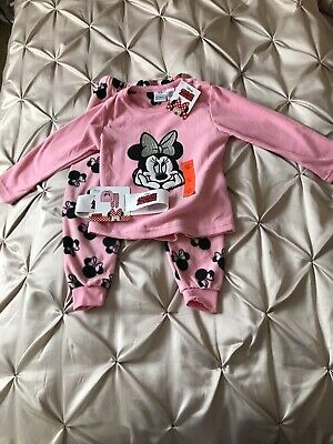 Minnie Mouse girls pyjamas fleece age 2/3 24-36 months pink Disney
