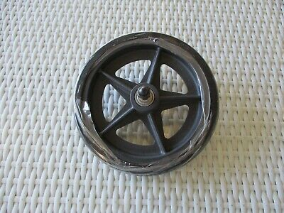 1 x Solid Rubber Wheel Plastic Rim Scooter Wheelchair Cart Replacement 17cm