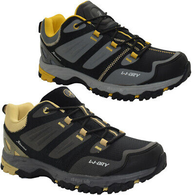 New Mens Lace Up Hiking Boots Comfortable Walking Trekking Trail Trainers Shoes