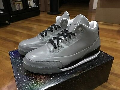 e366ad3dfbfc1f Nike Air Jordan 3 Iii 5Lab3 Silver Size Us12 Fire Red Cement White Black  Flyknit