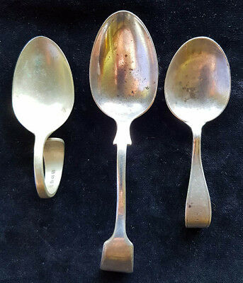Caddy spoons (3), not matching, worn, vintage