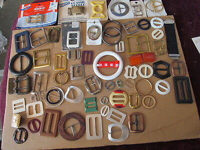 Huge Lot Of Fabulous Vintage & Modern Belt Buckles Of All Kinds - Must See!!!!