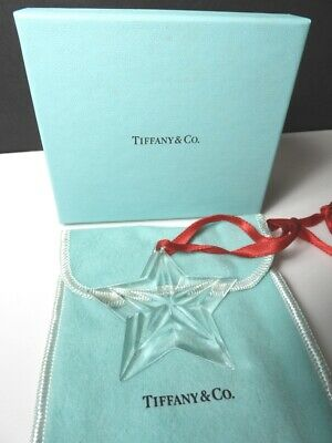 TIFFANY & Co. Crystal 5 Point STAR Christmas Ornament, Mint with Box