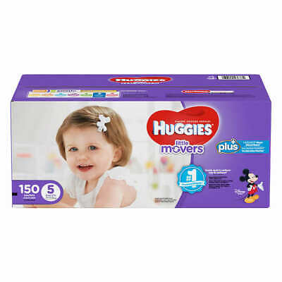 Huggies Plus Diapers Size 5: 27lbs and up, 150ct - Free Shipping - New!