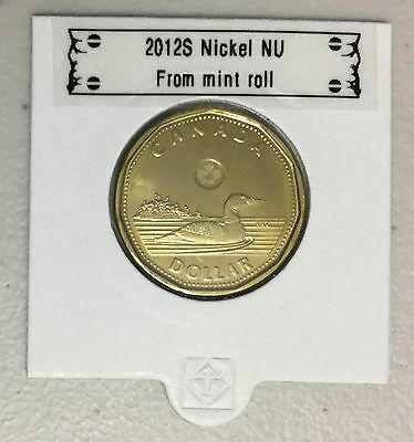 CANADA 2012 New 1 dollar LOONIE (BU directly from mint roll)