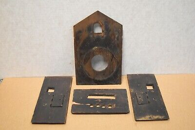 Antique Vintage Cuckoo Clock Case Parts - Black Forest Clock Parts