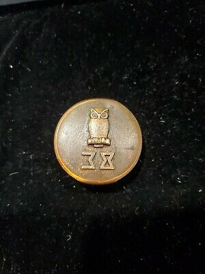 Antique vintage Small BELT BUCKLE  1940 Duro Plate USA HICKOK college fraternity