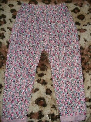 NEXT Girls Cotton Floral Print Trousers 4-5 years