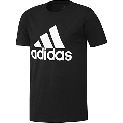 Adidas Men's Tee Shirt Badge of Sport Classic Black White Size Small CE5312