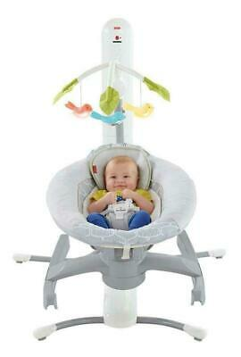 Fisher Price Swing 4-in-1 Smart Connect Singing Cradle 'n Swing - Gray Techno