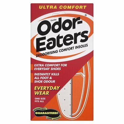 New Odor-Eaters ULTRA COMFORT Deodorising Comfort Insoles Everyday Wear Washable