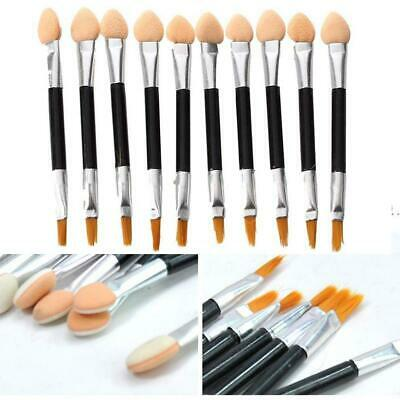 10PCS Portable Double-ended Makeup Eye Shadow Applicators with Lip Brush HS0P
