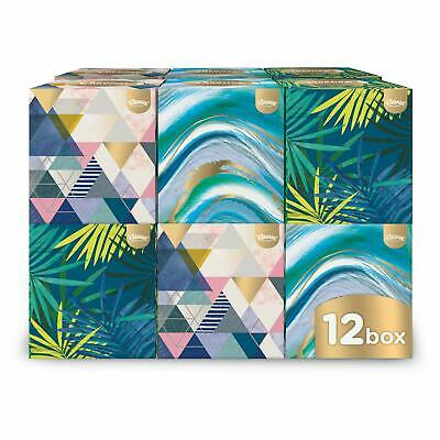 Kleenex Collection Cube - 12 Boxes (56 Tissues Per Box, 672 Tissues Total),New