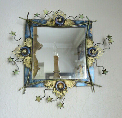 Copper Handcrafted Decorative Arts and Crafts  Hanging Wall Mirror