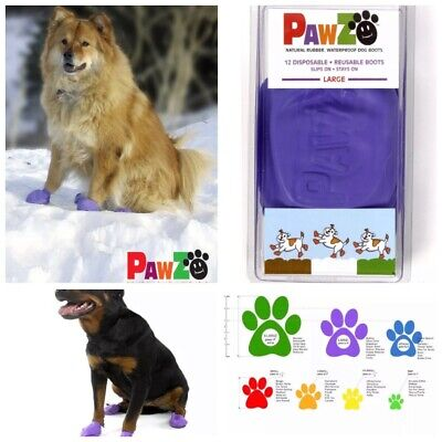 "🐶PawZ 🐾Protex Rubber Dog Boots Large Up To 5"" Purple {Brand New}🐶"