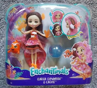 Enchantimals Clarita Clownfish Doll with Colour Change Hair & Cackle Play Set