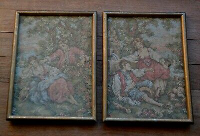 Vintage French tapiestries x2 romantic tapestry