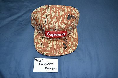 f4a2c8b5 SUPREME STRIPED LINEN/SUEDE Camp Cap Navy Box Logo camp floral tree ...
