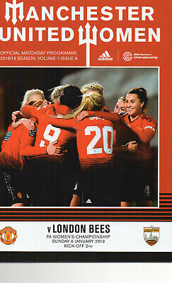 2018 - 19 Manchester United Women v London Bees FA Women`s Championship Match