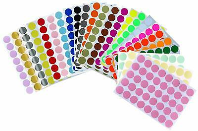 "Round Sticker Dots 3/4"" 19 mm Marking Colored Labels for DIY Projects 880 Pack"