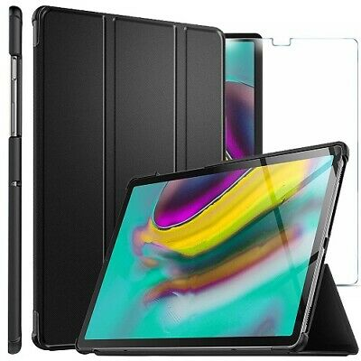 For Samsung Galaxy Tab S5e Smart Case Cover & Glass Screen Protector