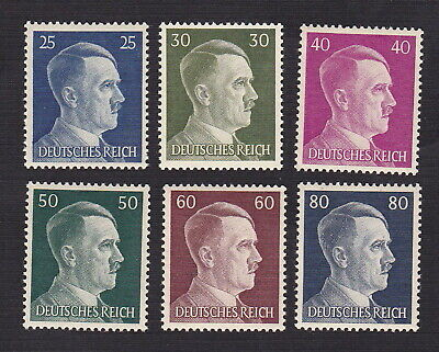 Germany 1941 Scott 518-523 - Hitler Heads Nazi Third Reich Set of 6 - MNH